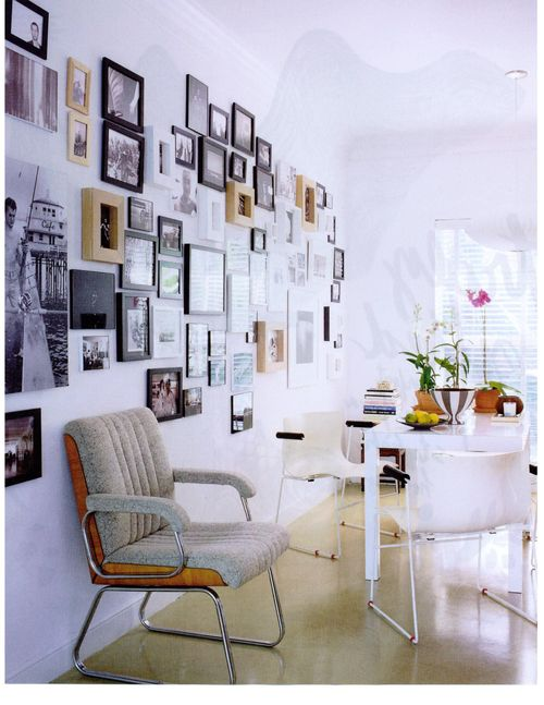 Elle Decor photo wall